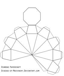 Diamond or Gem Papercraft