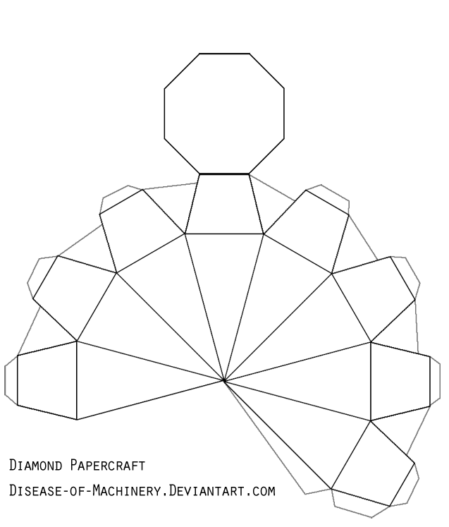 Diamond Or Gem Papercraft By Disease Of Machinery On