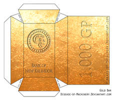 Gold Bar Papercraft by Disease-of-Machinery