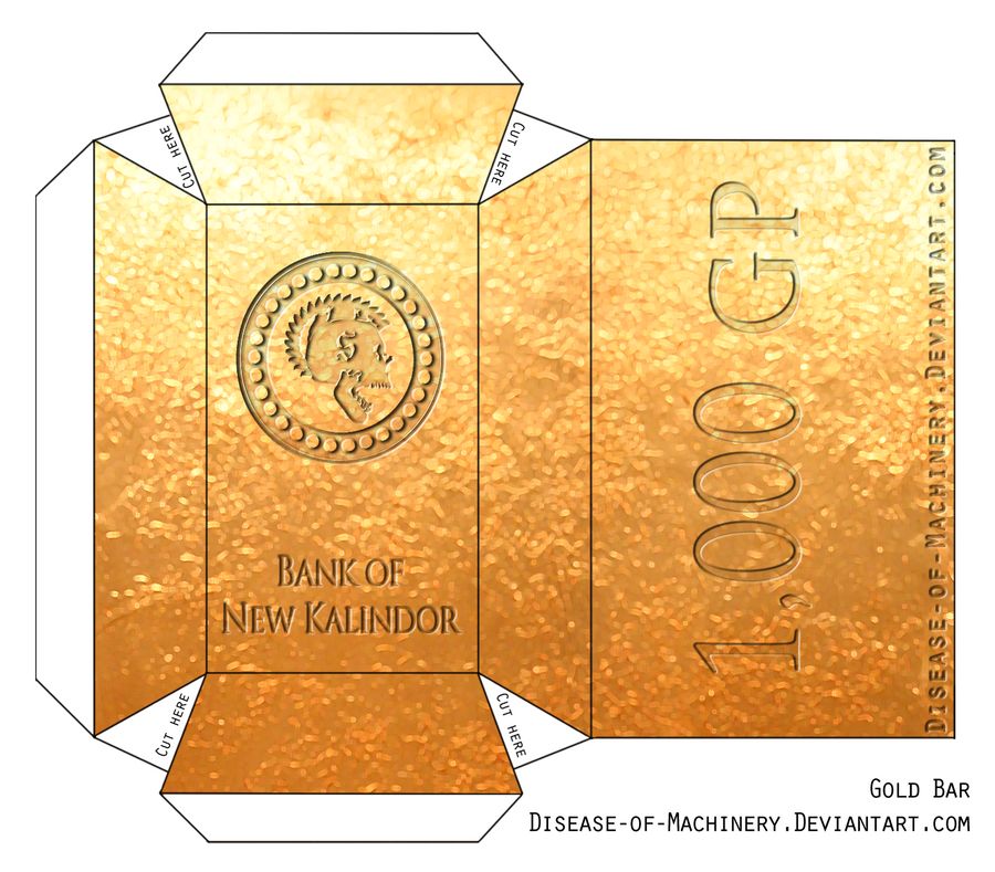 Gold Bar Papercraft By Disease-of-Machinery On DeviantArt