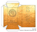 Gold Bar Papercraft