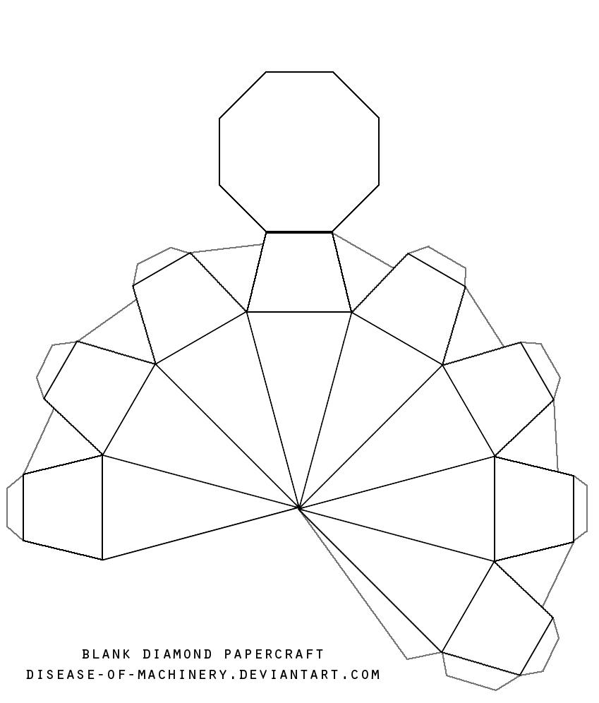 blank diamond template