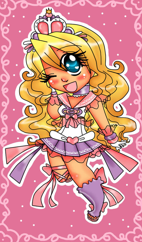 SkittleBittle's OC Lillian (chibi version) by BrownieTheif