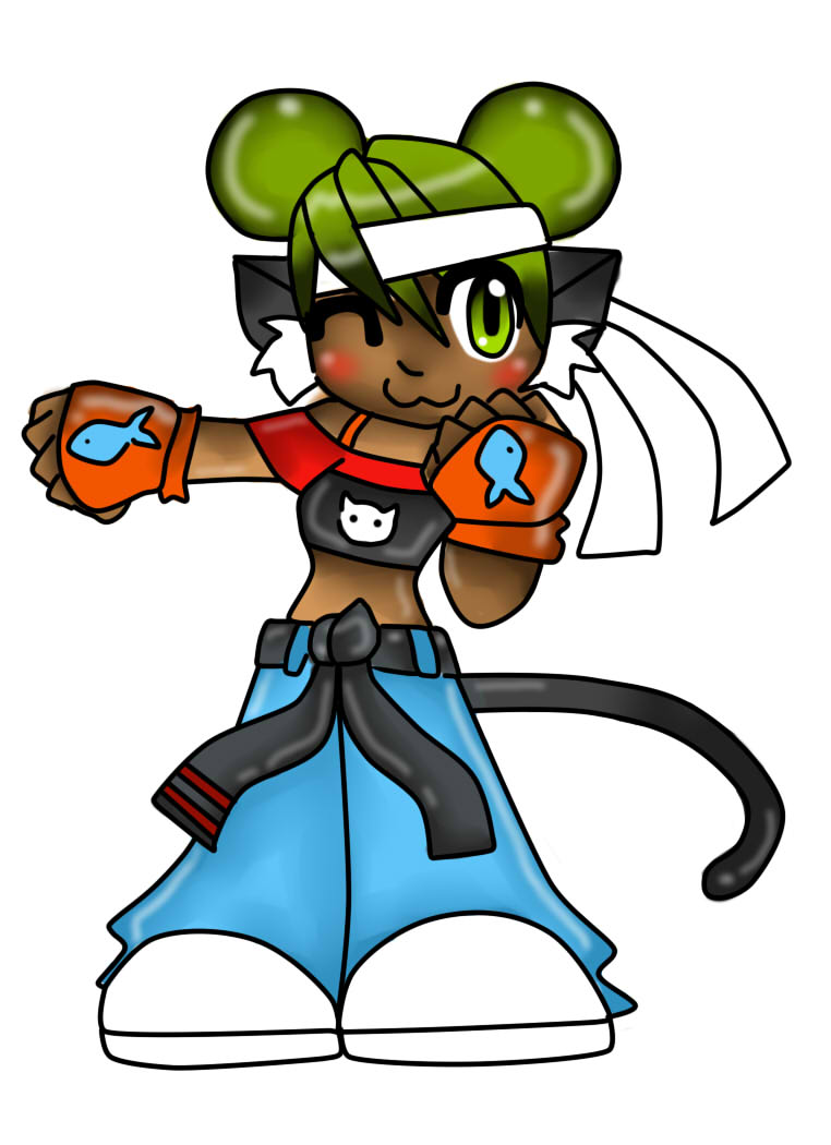 KItty Fighter adoptable (sold) by jazzy2cool