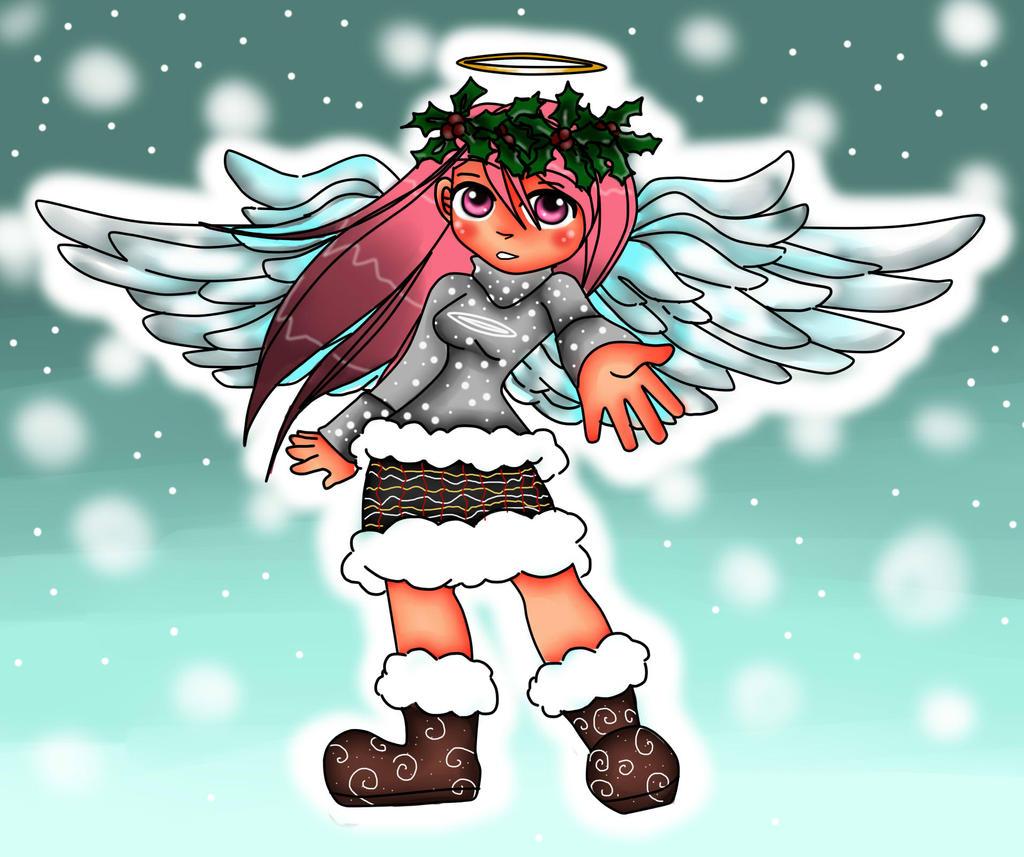 Master Saruwatari's OC Zephi (angel form) by BrownieTheif