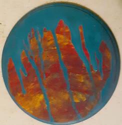 Drip Wood Painting