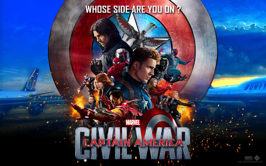 Captain America Civil War Wallpaper V30 By Lesajt On