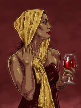 La femme au vin