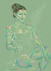 Rainbow Girl XXXIV Absinthe by vervex