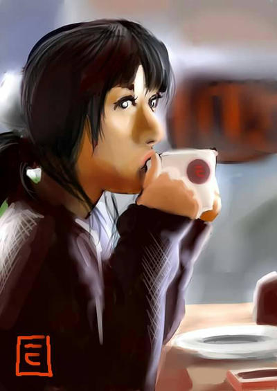 coffe girl by TOTOTEWEAMPON
