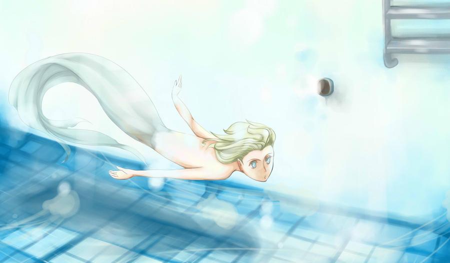 Mermaid In Swimming Pool By Caylren On Deviantart