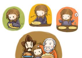 The Hobbit:: Ori, Dori and Nori by caylren