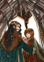 Bagginshield (Fem!Bilbo) :: A Royal Wedding by caylren