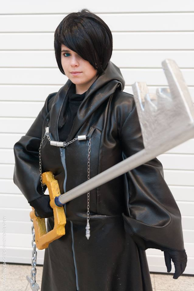 Xion cosplay kingdom hearts close up by namine903