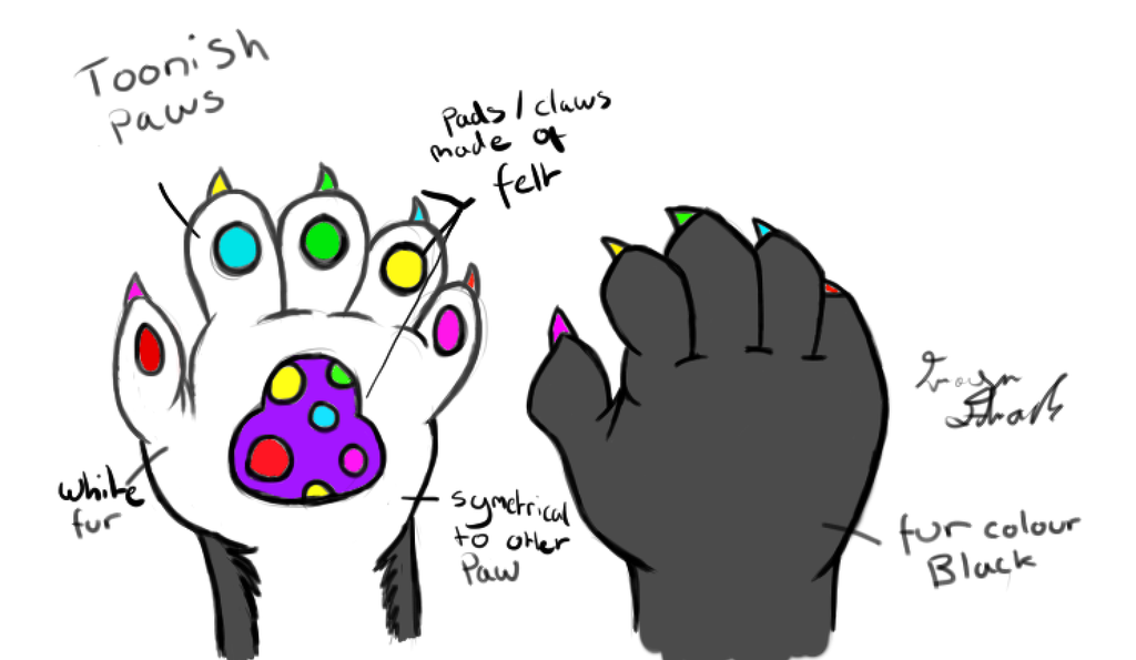 fursona paw design by namine903