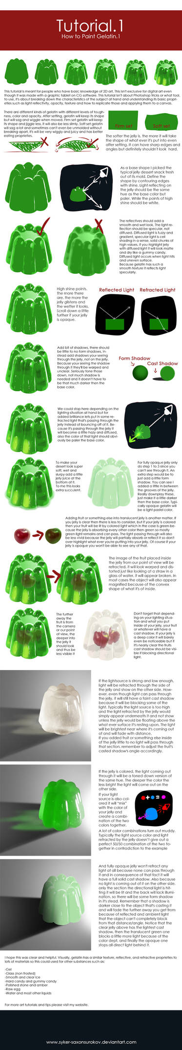 Tutorial.1 [How to Paint Gelatin.1]