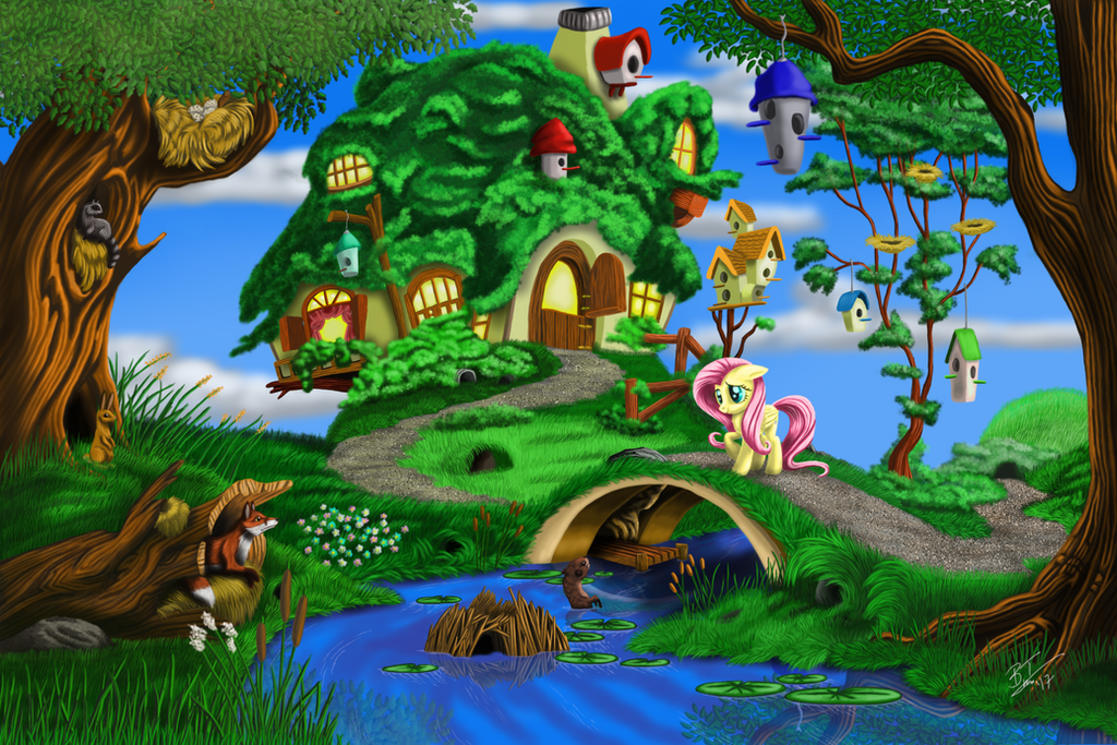 Fluttershy's House Final PNG by TheFinalLion