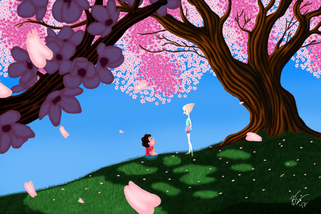 Steven and Pearl discuss how Steven can use his gem powers. Recolor of a screenshot from Season One, episode one. Available as a print or a high-res digital download from my etsy shop:w...