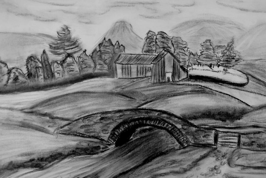 landscape charcoal sketches - photo #3