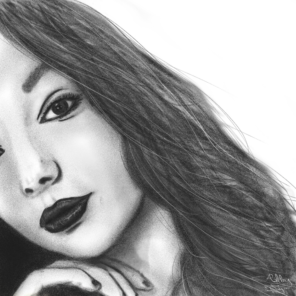 portrait sketch practice by AshleyDay44