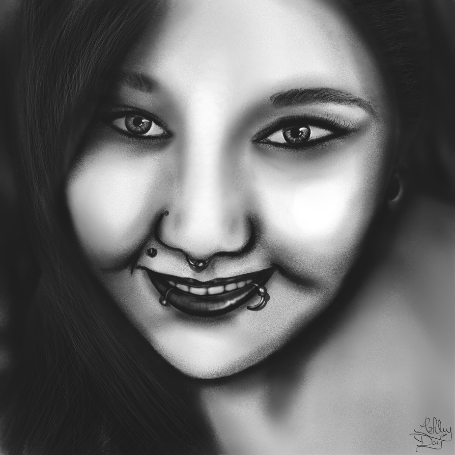 practice sketch portrait by AshleyDay44