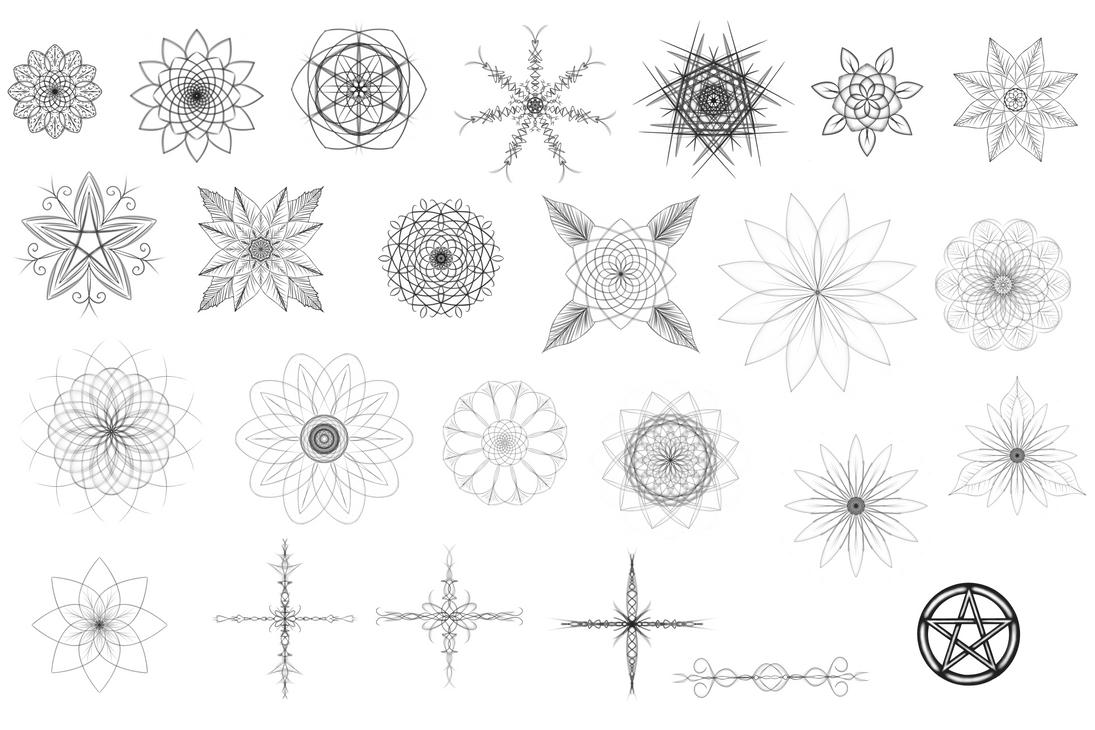 Symmetrical floral designs random, ROYALTY-FREE by AshleyDay44
