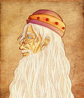 Portrait of Albus Dumbledore by Clef-en-Or