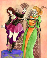 At Madam Malkin's robes for all occasions! by Clef-en-Or