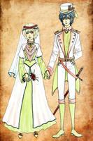 Victorian wedding by Clef-en-Or