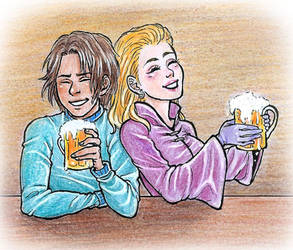 At the Three Broomsticks by Clef-en-Or