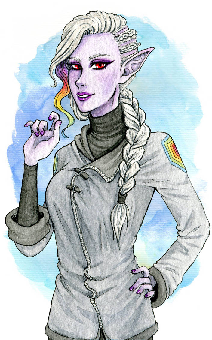 Ilahara: RPG Starfinder character by Clef-en-Or