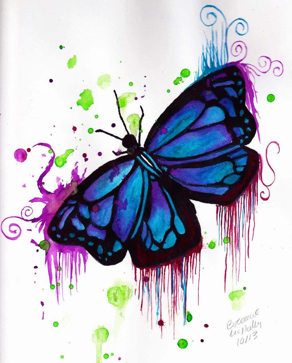 butterfly watercolour by bunni 54 on deviantart
