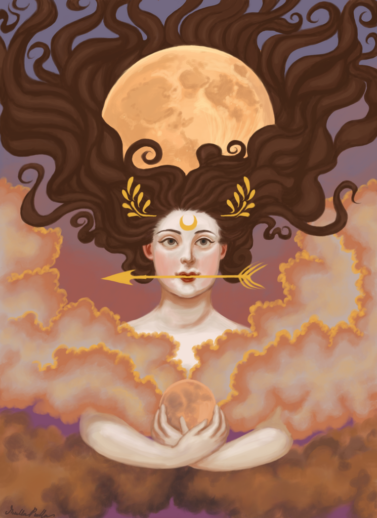 Lady of the Harvest and Hunter's Moon by misellapuella