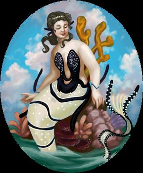 Banggai cardinalfish mermaid