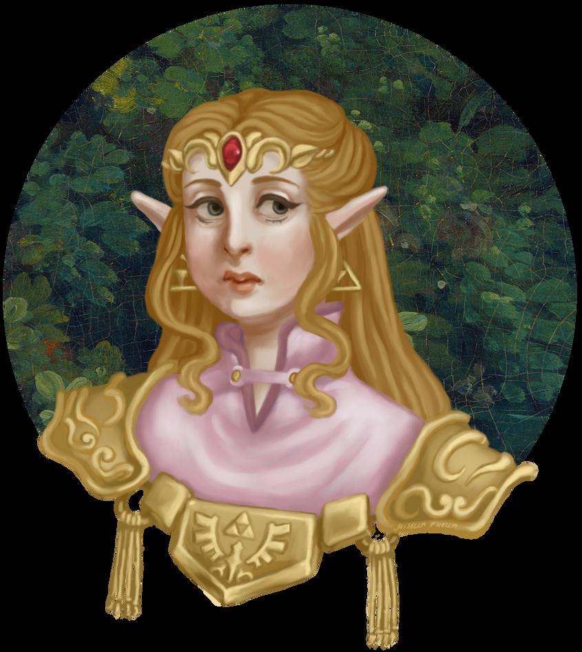 LoZ: Princess Zelda portrait (OoT) by misellapuella