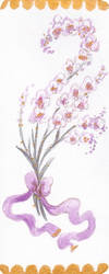 [COMMISSION] Bookmark design: Orchids by misellapuella