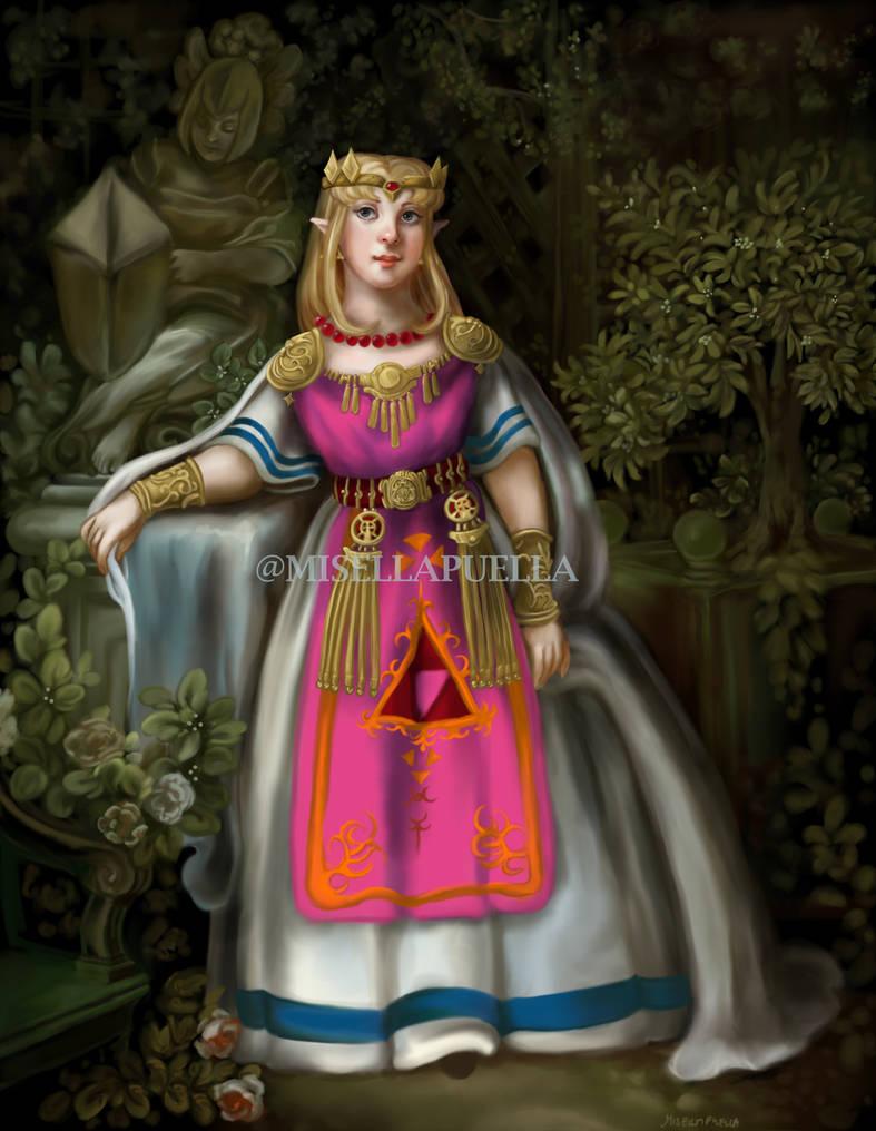 LoZ: Princess Zelda portrait (Link to the Past)