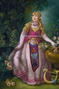 LoZ: Princess Zelda portrait (Ocarina of Time)