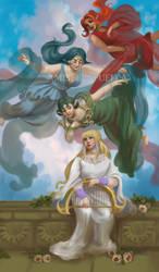 LoZ: Hylia and the Three Goddesses