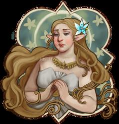 LoZ: Mucha-inspired Zelda (BOTW)
