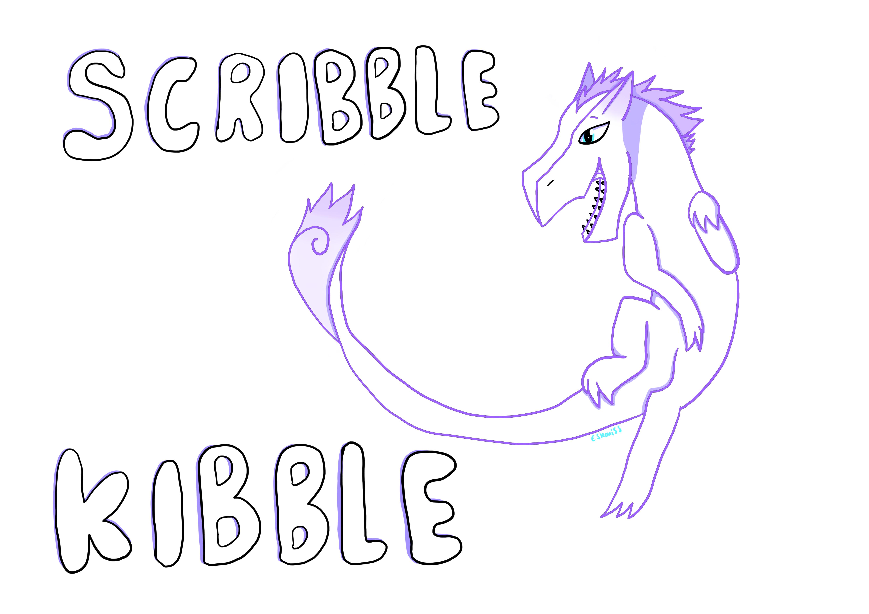 Scribble Kibble Dragon by Eskoniss