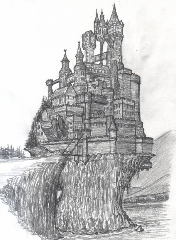 Castle Sketch By Jorge D Fuentes On Deviantart