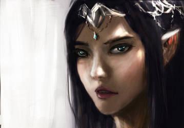Elf Princess Kaira by Discordwizard