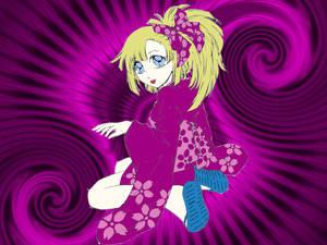 girl in kimono wallpaper
