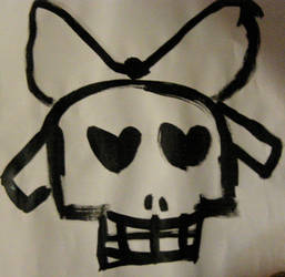 Lady Skull for sale on etsy