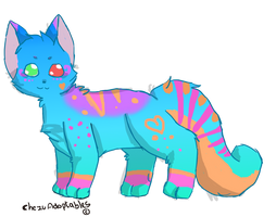 SOLD feline / kitty adoptable by ChezuAdoptables