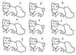 Feline Kitty Adopt Sheet Free Lines Base F2u Cute