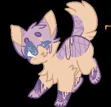 SOLD Purple Lavender Feline by ChezuAdoptables