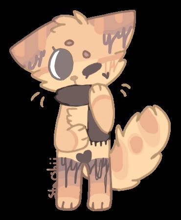 SOLD pumpkin spice scarf feline adopt by ChezuAdoptables