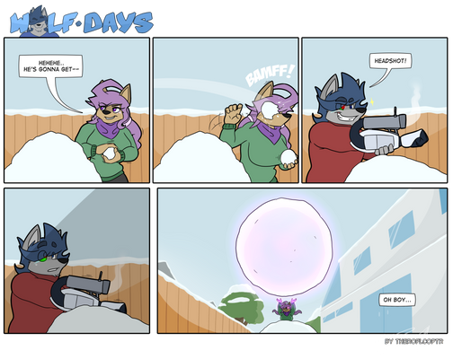 Wolf Days - Snowball Fight